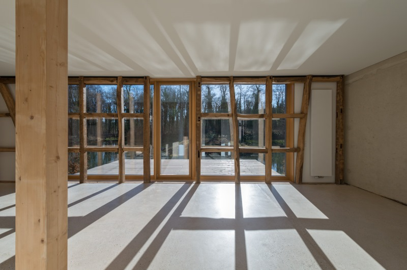 Feldhof in Bachem - Offenlegung des Fachwerkes