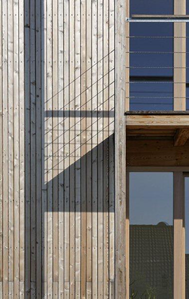 Detail der Terrassenkonstruktion