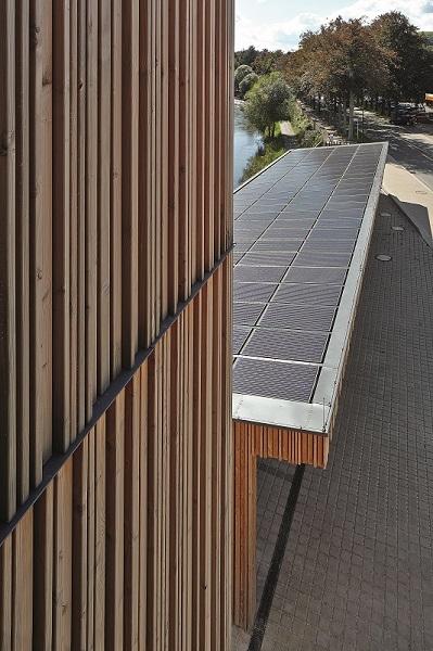 Die Energiegewinnung mit Solarpanels spielt eine wichtige Rolle im Gesamt-Energiekonzept.
