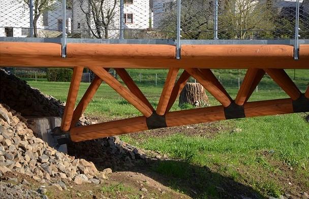 Anschlussstelle der Brückenkonstruktion