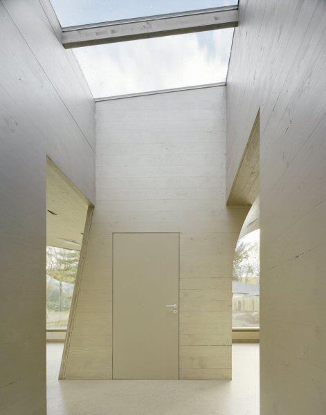 Pavillon Düren: Innenansicht Lichtschacht