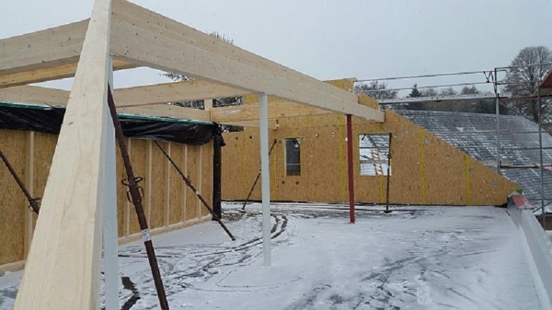 Baustelle Dachgeschoss