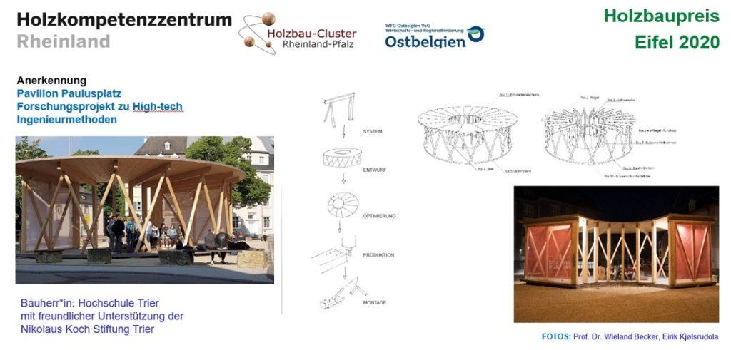 Tafel zum Projekt Pavillon Trier