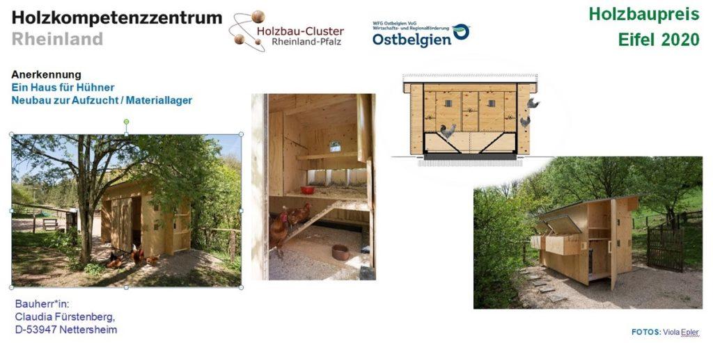Tafel zum Projekt Hühnerhaus Nettersheim