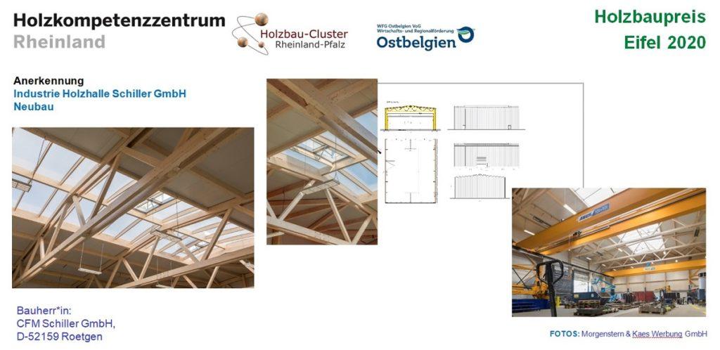 Tafel zum Projekt Holzhalle Schiller Roetgen