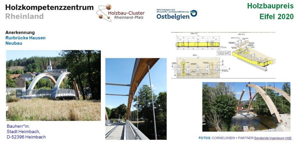 Tafel zum Projekt Rurbrücke Hausen