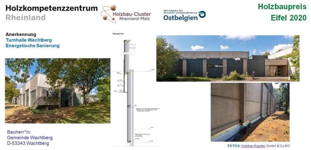 Tafel zum Projekt Turnhalle Wachtberg
