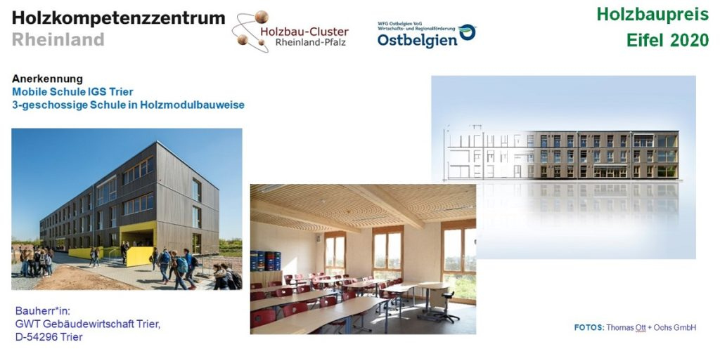 Tafel zum Projekt Mobile Schule Trier