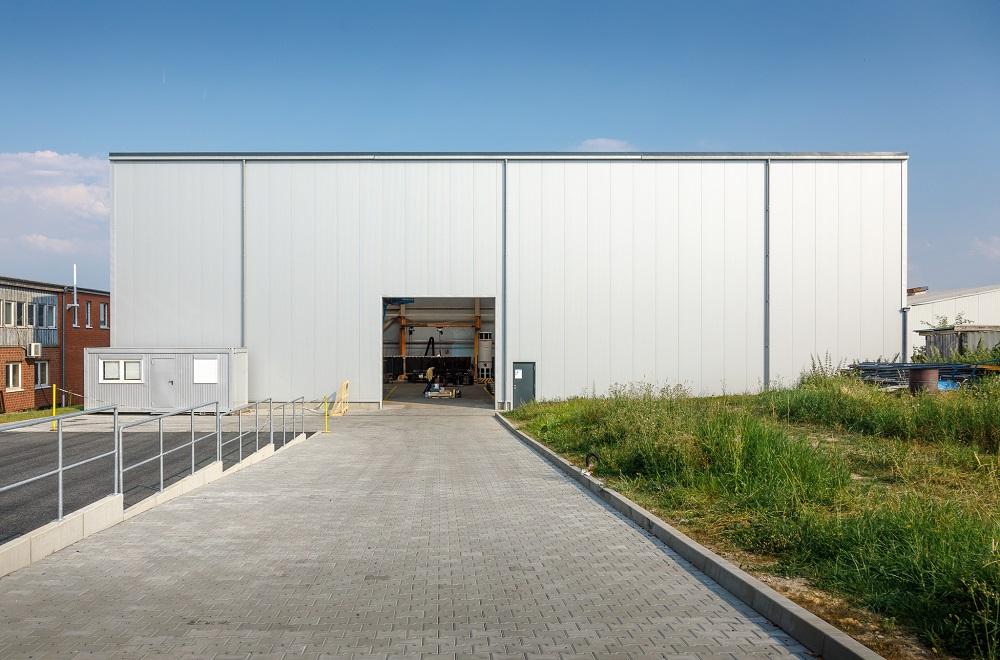 Industrie-Holzhalle