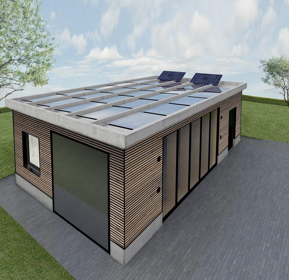 Umweltenergie stellt den alltäglichen Betrieb des Gebäudes sicher