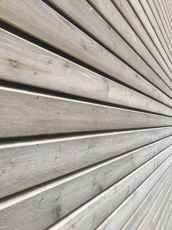 Fassade als Holz-Beton-Verbund; Fassadendämmung mit Zellulose