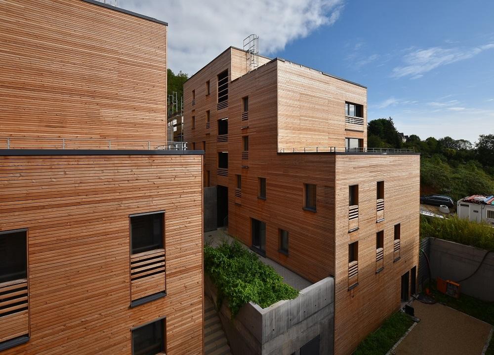 Außenwände in Holzrahmenbauweise