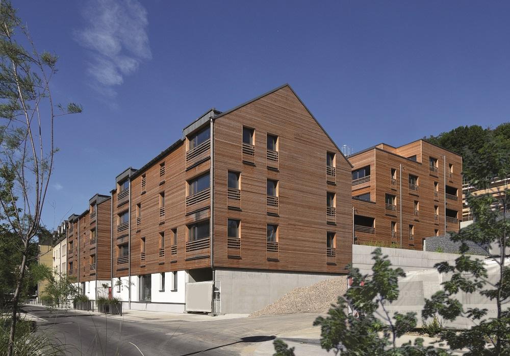 Neun mehrgeschossige Mehrfamilienhäuser mit 77 Wohneinheiten