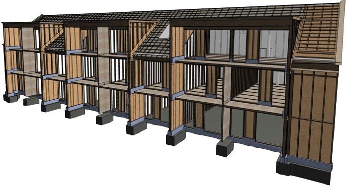 Konstruktive Ausführung in Holztafelbauweise