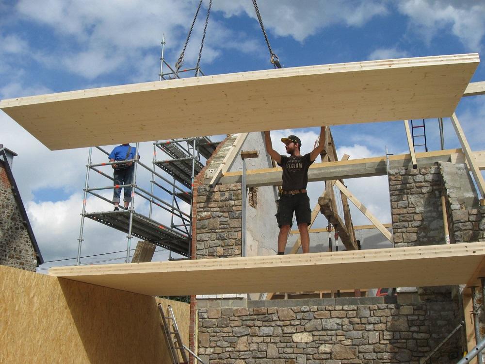 Dachkonstruktion aus BSH Decken