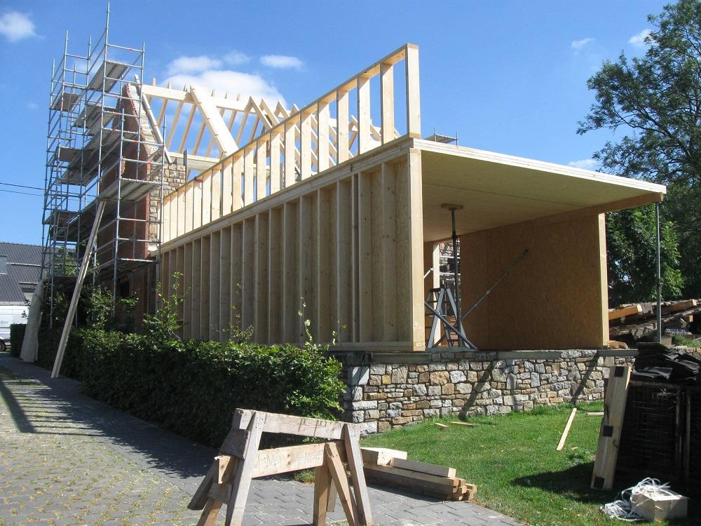 Holzkonstruktion Anbau