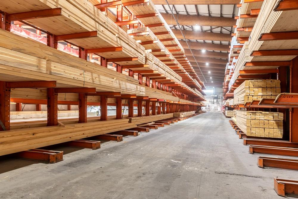 Lagerung von Bauholz
