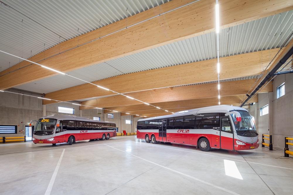 Busdepot der staatlichen Eisenbahngesellschaft Luxemburg