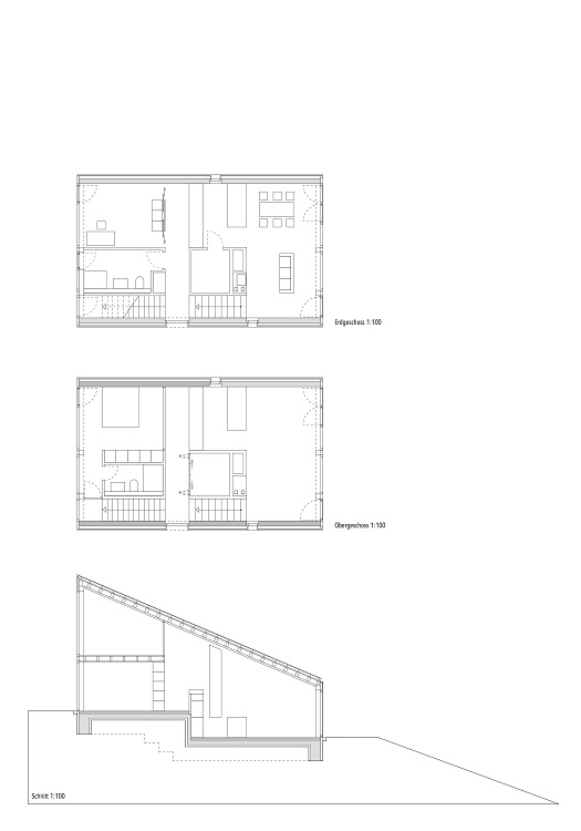 Zeichnung Erd- und Obergeschoss